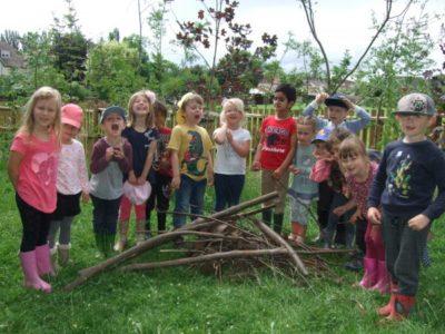 Reception children begin their Forest School journey!