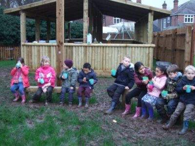 Year 1 explore our new Forest School